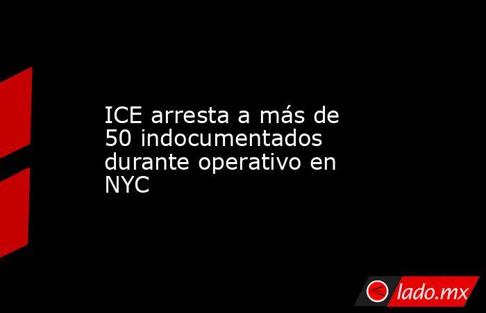 ICE arresta a más de 50 indocumentados durante operativo en NYC. Noticias en tiempo real