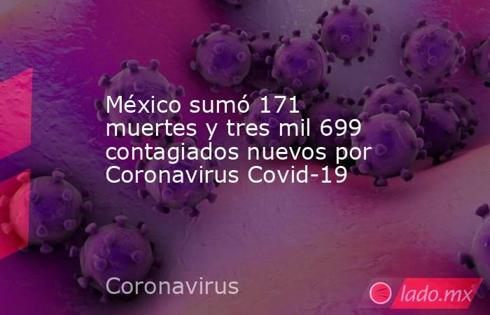 México sumó 171 muertes y tres mil 699 contagiados nuevos por Coronavirus Covid-19 . Noticias en tiempo real