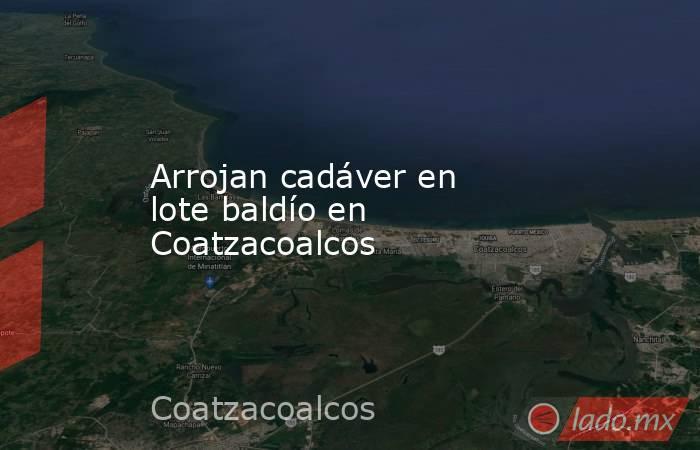 Arrojan cadáver en lote baldío en Coatzacoalcos. Noticias en tiempo real