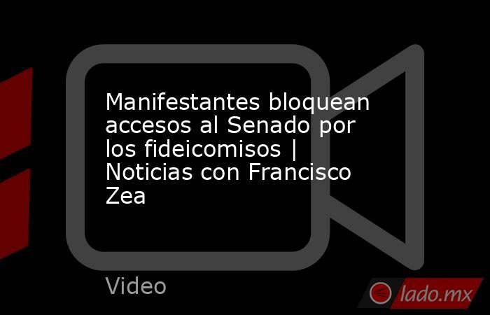 Manifestantes bloquean accesos al Senado por los fideicomisos   Noticias con Francisco Zea. Noticias en tiempo real