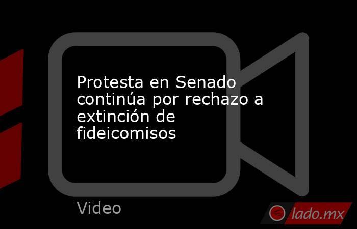 Protesta en Senado continúa por rechazo a extinción de fideicomisos. Noticias en tiempo real