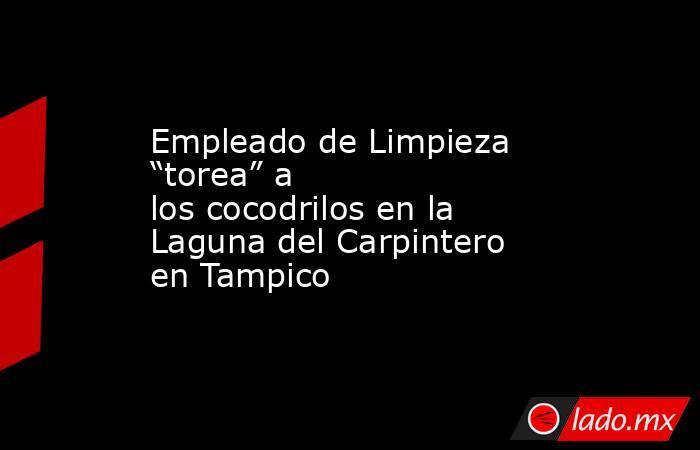 """Empleado de Limpieza """"torea"""" a los cocodrilos en la Laguna del Carpintero en Tampico. Noticias en tiempo real"""