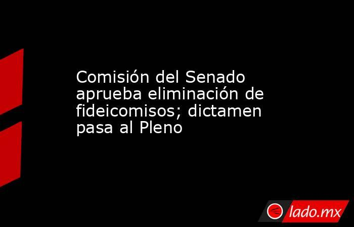 Comisión del Senado aprueba eliminación de fideicomisos; dictamen pasa al Pleno. Noticias en tiempo real
