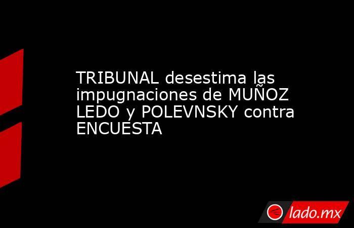 TRIBUNAL desestima las impugnaciones de MUÑOZ LEDO y POLEVNSKY contra ENCUESTA. Noticias en tiempo real