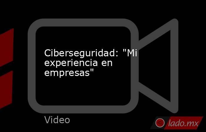 Ciberseguridad: