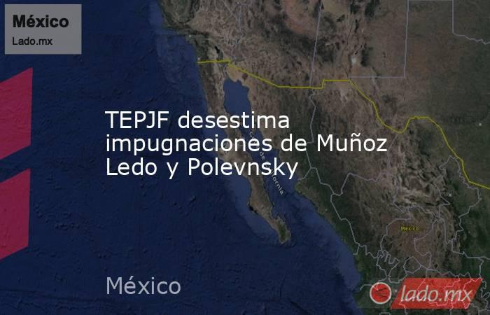TEPJF desestima impugnaciones de Muñoz Ledo y Polevnsky. Noticias en tiempo real