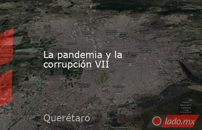La pandemia y la corrupción VII. Noticias en tiempo real