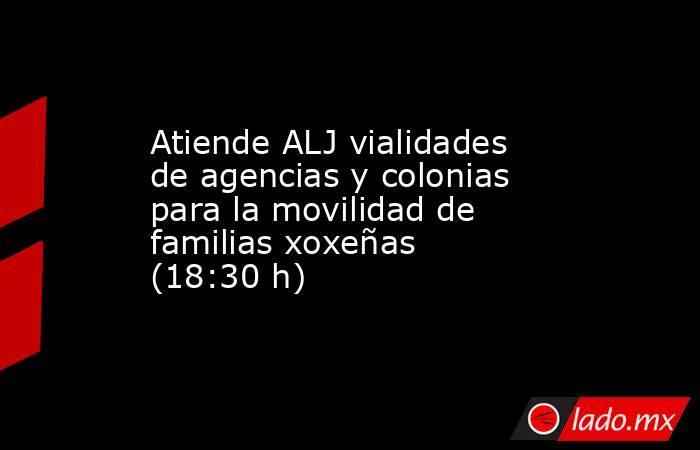 Atiende ALJ vialidades de agencias y colonias para la movilidad de familias xoxeñas (18:30 h). Noticias en tiempo real