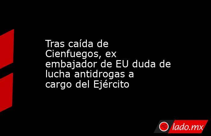 Tras caída de Cienfuegos, ex embajador de EU duda de lucha antidrogas a cargo del Ejército. Noticias en tiempo real