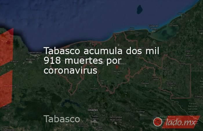 Tabasco acumula dos mil 918 muertes por coronavirus. Noticias en tiempo real