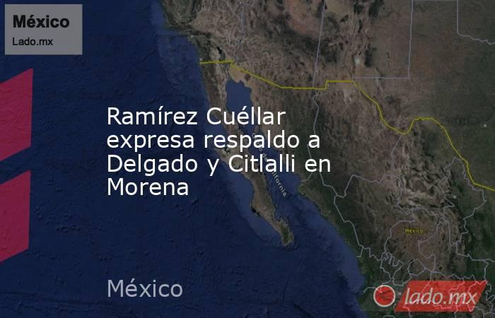Ramírez Cuéllar expresa respaldo a Delgado y Citlalli en Morena. Noticias en tiempo real