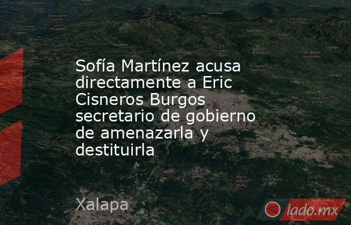 Sofía Martínez acusa directamente a Eric Cisneros Burgos secretario de gobierno de amenazarla y destituirla. Noticias en tiempo real