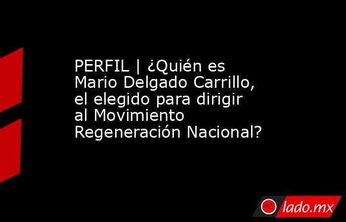 PERFIL | ¿Quién es Mario Delgado Carrillo, el elegido para dirigir al Movimiento Regeneración Nacional?. Noticias en tiempo real