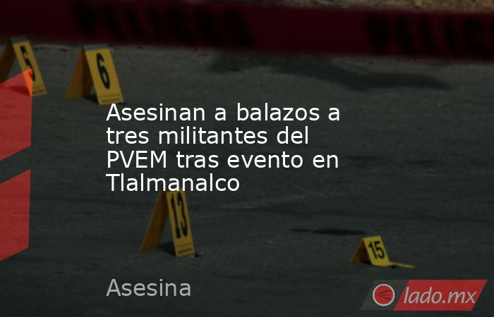 Asesinan a balazos a tres militantes del PVEM tras evento en Tlalmanalco. Noticias en tiempo real