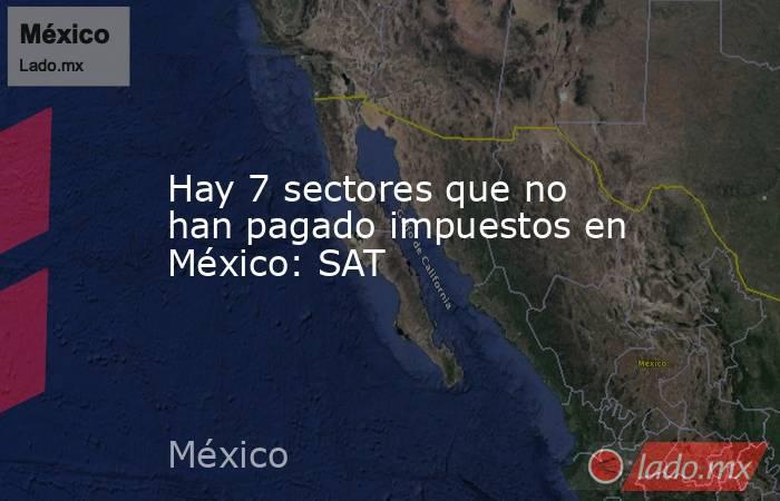 Hay 7 sectores que no han pagado impuestos en México: SAT. Noticias en tiempo real