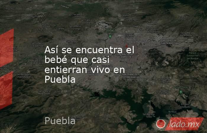 Así se encuentra el bebé que casi entierran vivo en Puebla. Noticias en tiempo real