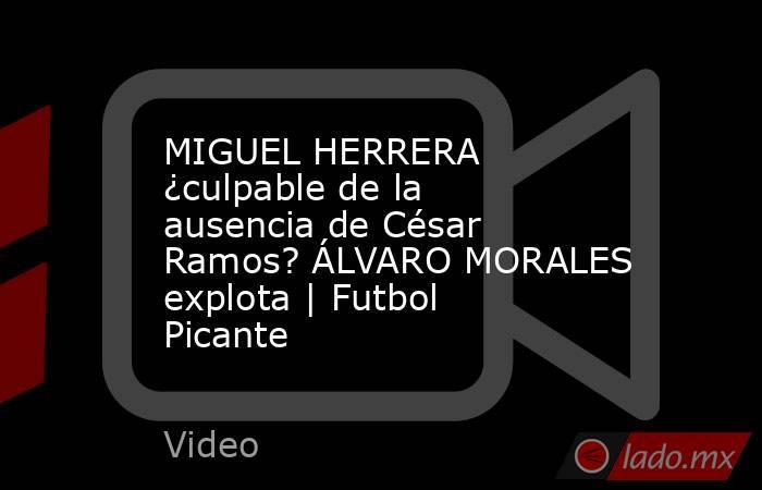MIGUEL HERRERA ¿culpable de la ausencia de César Ramos? ÁLVARO MORALES explota   Futbol Picante. Noticias en tiempo real