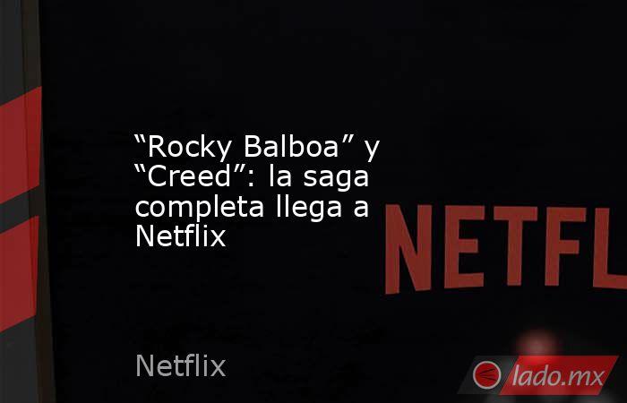 """""""Rocky Balboa"""" y """"Creed"""": la saga completa llega a Netflix. Noticias en tiempo real"""