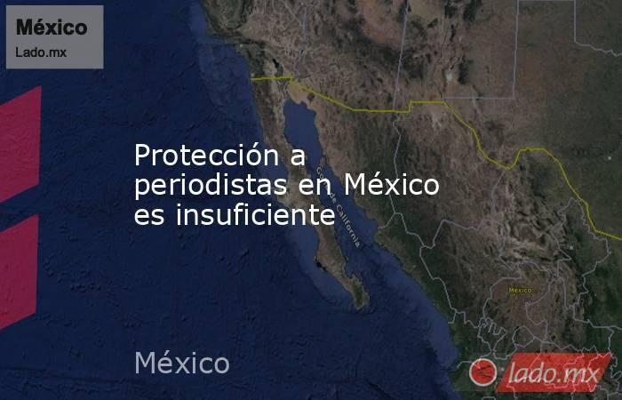 Protección a periodistas en México es insuficiente. Noticias en tiempo real