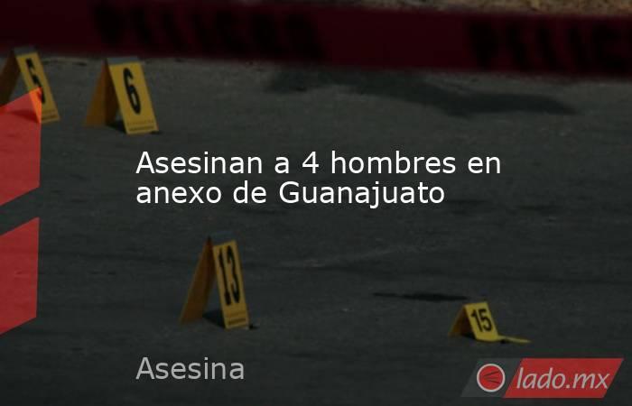 Asesinan a 4 hombres en anexo de Guanajuato. Noticias en tiempo real