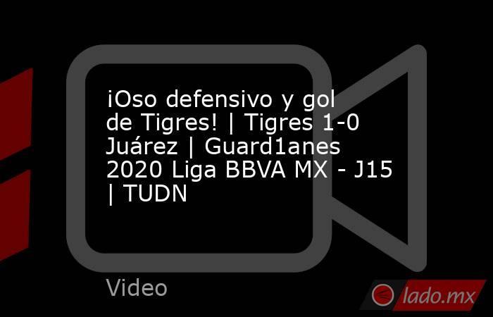 ¡Oso defensivo y gol de Tigres! | Tigres 1-0 Juárez | Guard1anes 2020 Liga BBVA MX - J15 | TUDN. Noticias en tiempo real