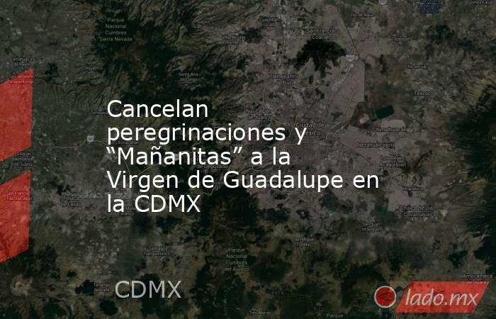 """Cancelan peregrinaciones y """"Mañanitas"""" a la Virgen de Guadalupe en la CDMX. Noticias en tiempo real"""