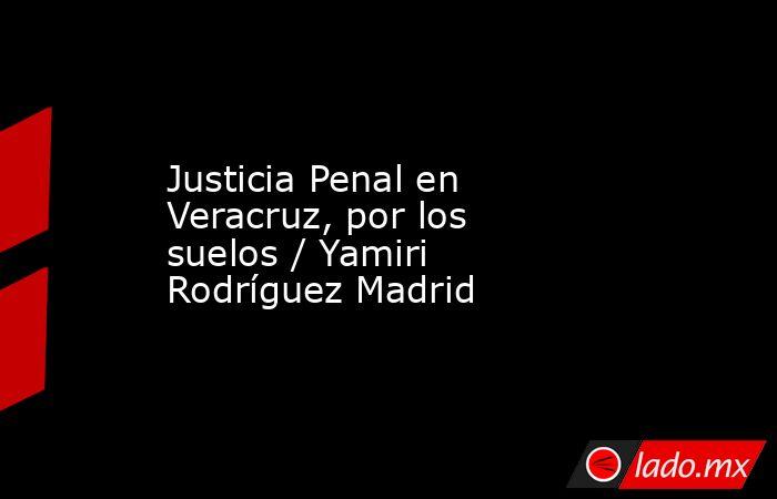 Justicia Penal en Veracruz, por los suelos / Yamiri Rodríguez Madrid. Noticias en tiempo real