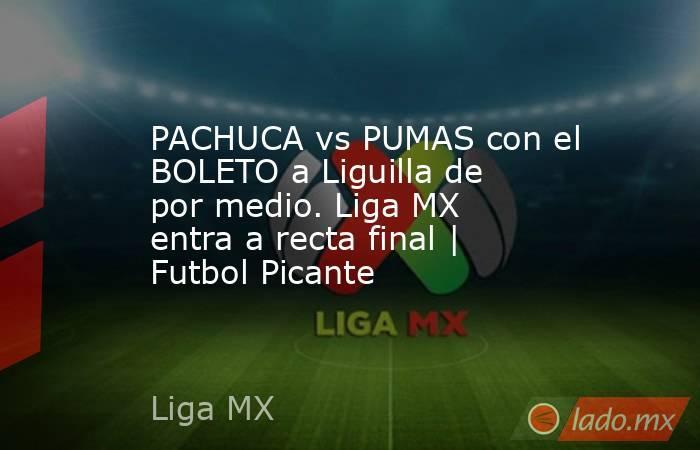 PACHUCA vs PUMAS con el BOLETO a Liguilla de por medio. Liga MX entra a recta final | Futbol Picante. Noticias en tiempo real