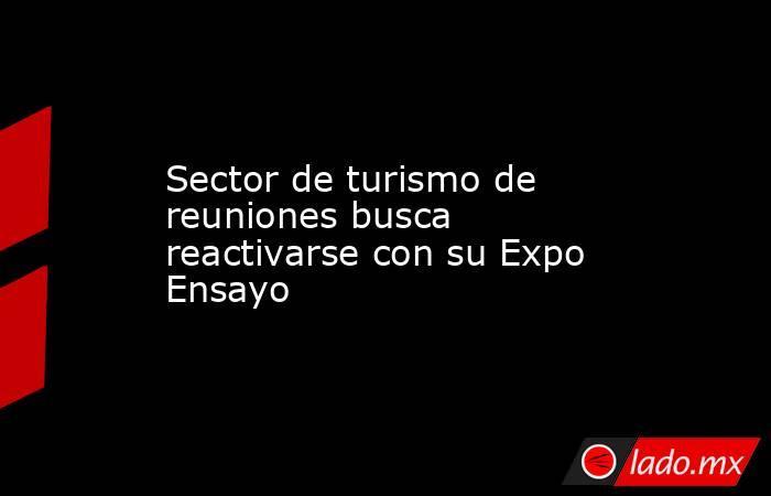 Sector de turismo de reuniones busca reactivarse con su Expo Ensayo. Noticias en tiempo real