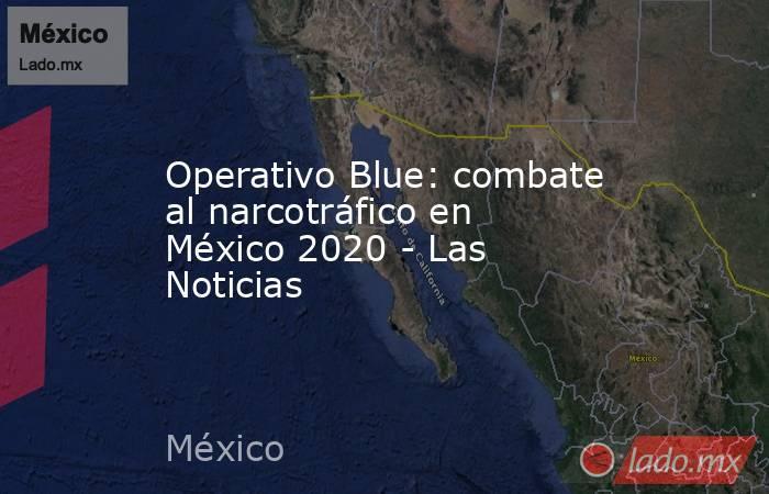 Operativo Blue: combate al narcotráfico en México 2020 - Las Noticias. Noticias en tiempo real