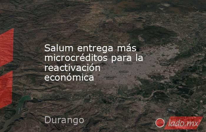 Salum entrega más microcréditos para la reactivación económica. Noticias en tiempo real