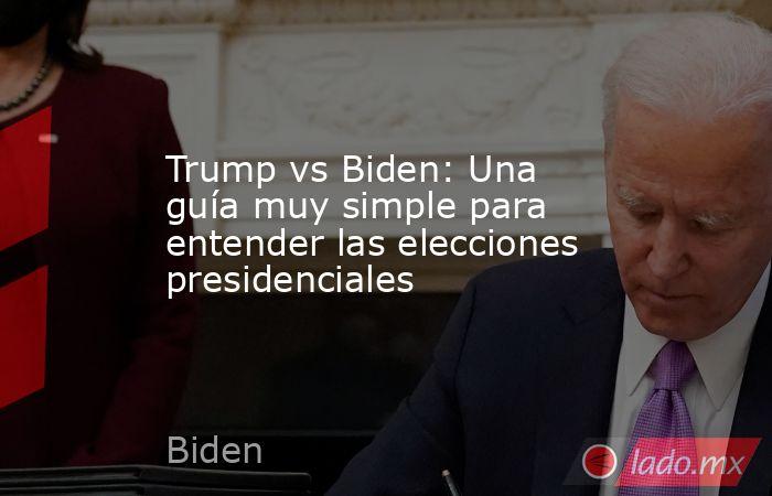 Trump vs Biden: Una guía muy simple para entender las elecciones presidenciales. Noticias en tiempo real