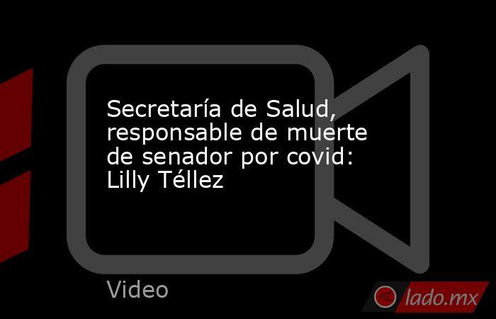 Secretaría de Salud, responsable de muerte de senador por covid: Lilly Téllez. Noticias en tiempo real