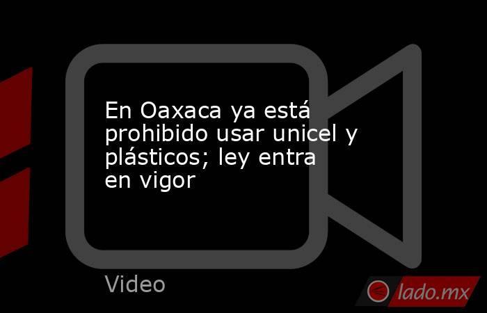 En Oaxaca ya está prohibido usar unicel y plásticos; ley entra en vigor. Noticias en tiempo real
