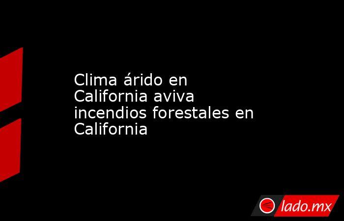 Clima árido en California aviva incendios forestales en California. Noticias en tiempo real