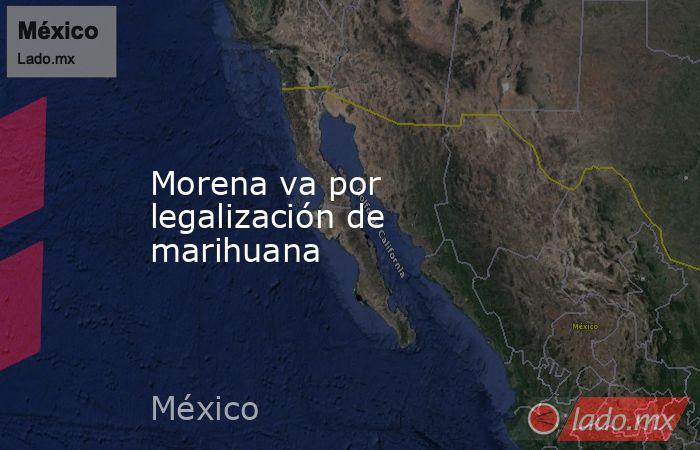 Morena va por legalización de marihuana. Noticias en tiempo real