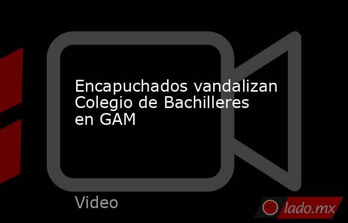 Encapuchados vandalizan Colegio de Bachilleres en GAM. Noticias en tiempo real