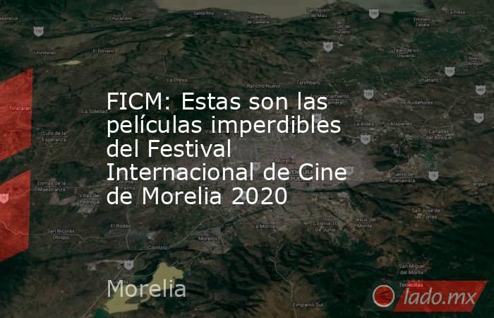FICM: Estas son las películas imperdibles del Festival Internacional de Cine de Morelia 2020. Noticias en tiempo real