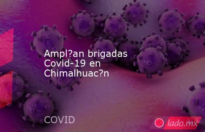 Ampl?an brigadas Covid-19 en Chimalhuac?n. Noticias en tiempo real