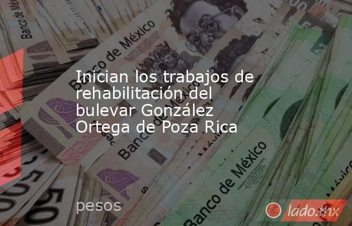 Inician los trabajos de rehabilitación del bulevar González Ortega de Poza Rica. Noticias en tiempo real