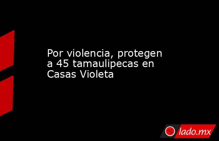 Por violencia, protegen a 45 tamaulipecas en Casas Violeta. Noticias en tiempo real