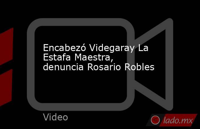 Encabezó Videgaray La Estafa Maestra, denuncia Rosario Robles. Noticias en tiempo real