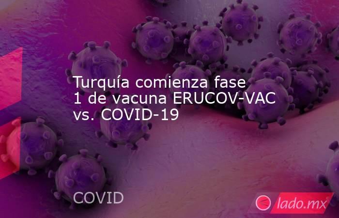 Turquía comienza fase 1 de vacuna ERUCOV-VAC vs. COVID-19. Noticias en tiempo real