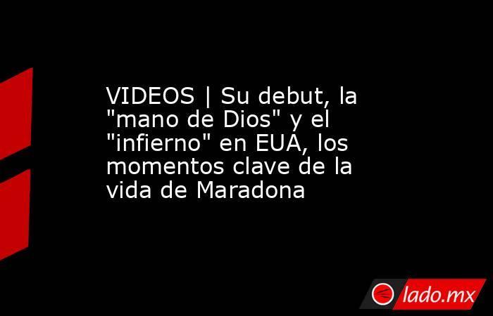 VIDEOS | Su debut, la