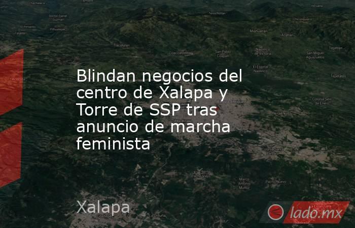 Blindan negocios del centro de Xalapa y Torre de SSP tras anuncio de marcha feminista. Noticias en tiempo real