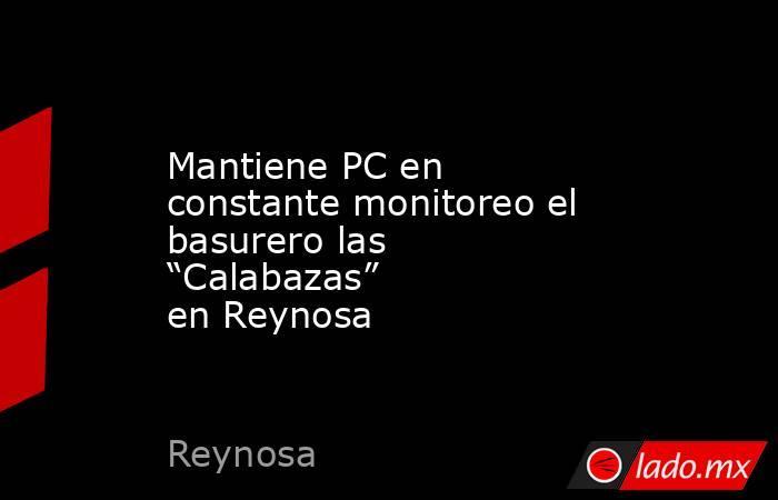 """Mantiene PC en constante monitoreo el basurero las """"Calabazas"""" en Reynosa. Noticias en tiempo real"""