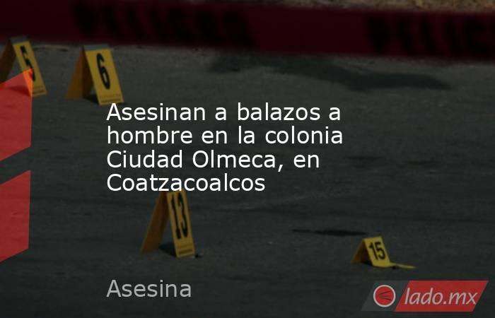 Asesinan a balazos a hombre en la colonia Ciudad Olmeca, en Coatzacoalcos. Noticias en tiempo real