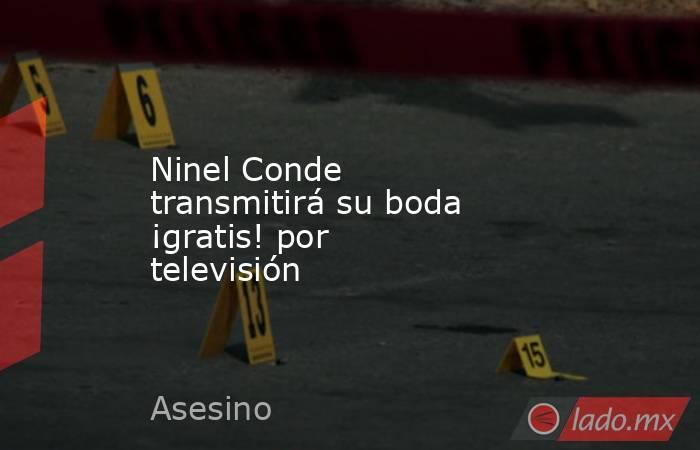 Ninel Conde transmitirá su boda ¡gratis! por televisión. Noticias en tiempo real