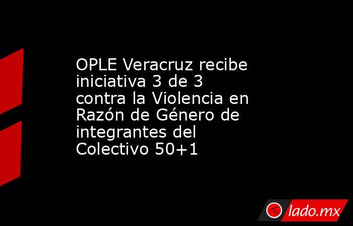 OPLE Veracruz recibe iniciativa 3 de 3 contra la Violencia en Razón de Género de integrantes del Colectivo 50+1. Noticias en tiempo real