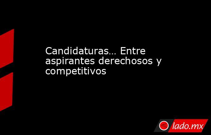 Candidaturas… Entre aspirantes derechosos y competitivos. Noticias en tiempo real